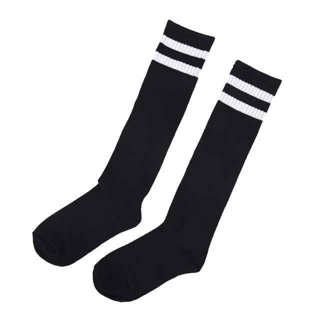 1pair Children Football Socks Boys Soccer Sock Above Knee Plain Socks Long Soccer Stockings Men Over Knee High Sock Baseball