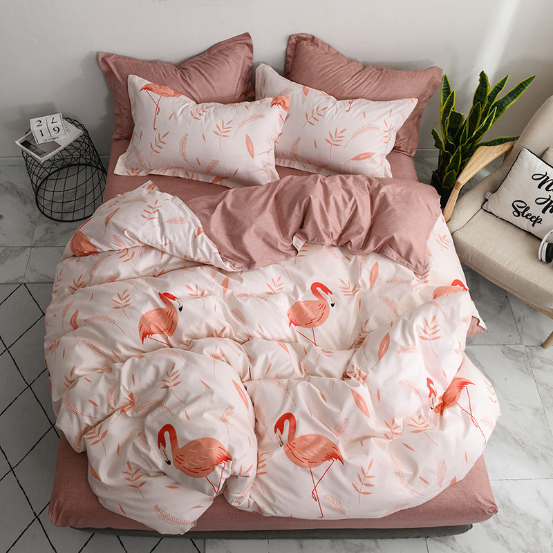 Flamingo 4pcs Boy Kid Bed Cover Set Duvet Child Sheets And Pillowcases Comforter Bedding 2tj 61007