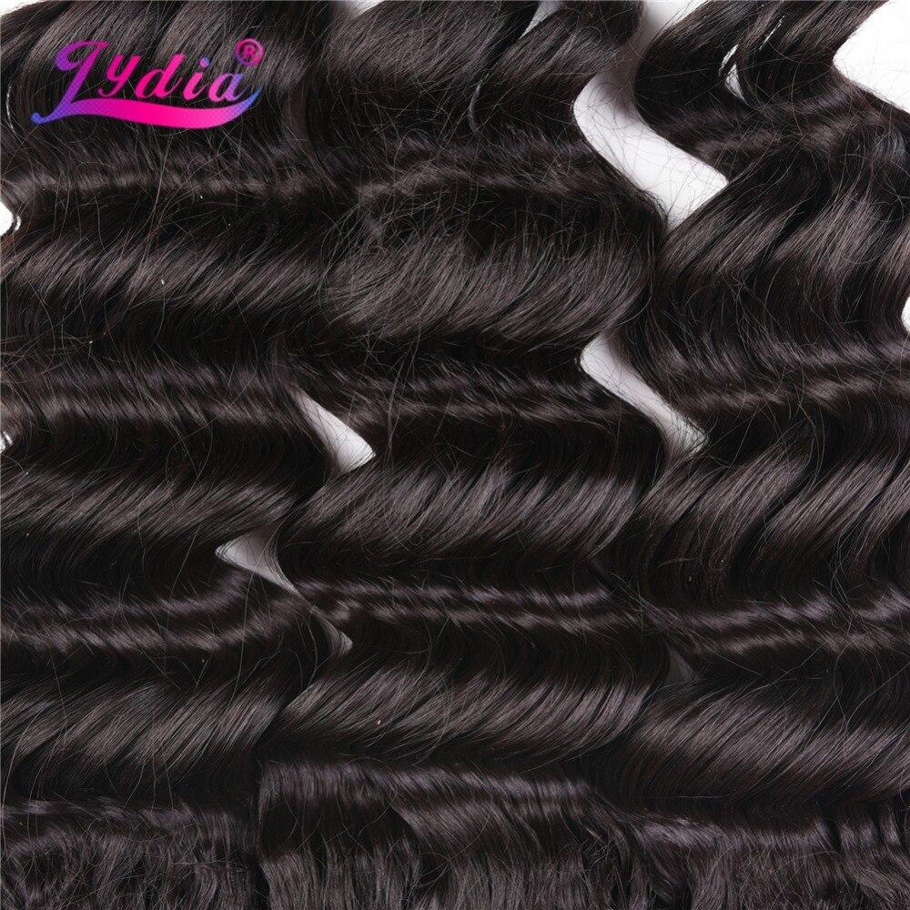 Lydia Syntetiska Hårförlängningar 14-18inch Deep Wave Hair 3st / - Syntetiskt hår - Foto 3