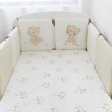 6 шт. в упаковке, Детские бамперы для кровати, хлопок, защита для детской кровати, мягкая детская кроватка, бамперы для младенцев