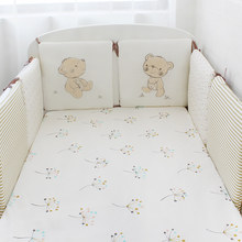 6 Pcs Pack Baby Bed Bumpers Cotton Toddler Bed Protector Children Bed Around Soft Cot Crib Bumpers For Infant(China)