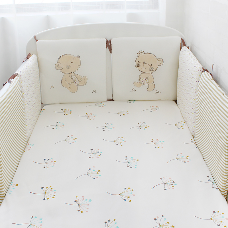 the best attitude a63c7 223dc US $21.99 29% OFF|6 Pcs Pack Baby Bed Bumpers Cotton Toddler Bed Protector  Children Bed Around Soft Cot Crib Bumpers For Infant-in Bumpers from Mother  ...
