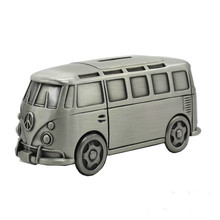 SaiDeKe Vintage style High quality and exquisite medium metal bus model piggy bank Children toy car Money Boxes Christmas gift