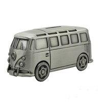 SaiDeKe Vintage style Wysokiej jakości i wykwintne średni metalu modelu autobusu Pola Pieniędzy skarbonka Dzieci samochodzik prezent na Boże Narodzenie
