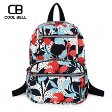 Women Canvas Bag School Backpack For Girls Teenger Bags Cute Print schoolbag Laptop