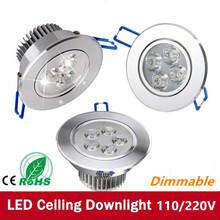 LED Dimmable 9W 12w 15W 21W  led dimmable Ceiling light Epistar ceiling lamp Recessed Spot 110V-220V