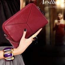 Купить с кэшбэком pu leather clutch wallets Mini phone bag card coin purse clutch bag women wallets zipper long purse solid color wallets luxury