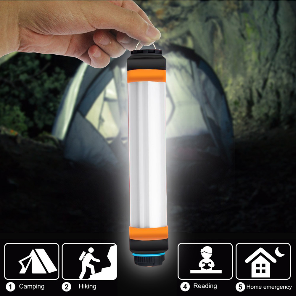 IP68 Waterproof Camping Lantern LED Camp Lights Flashlight USB Rechargeable Multi-functional Portable Hanging Magnetic Hiking