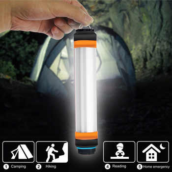 IP68 Waterproof Camping Lantern LED Camp Lights Flashlight USB Rechargeable Multi-functional Portable Hanging Magnetic Hiking - DISCOUNT ITEM  25% OFF All Category