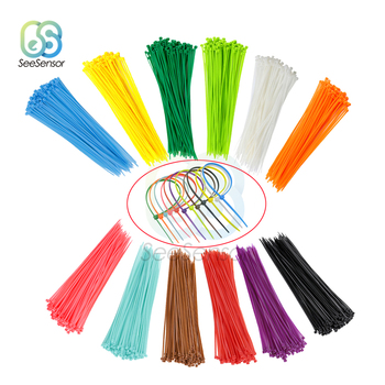 100pcs 200mm Self-locking Nylon Cable Ties 8 inch 12 color Plastic   Wire Zip Tie 18 lbs Binding Wrap Straps 100pcs zip wrap ties cable ties wire straps plastic hook self locking nylon white