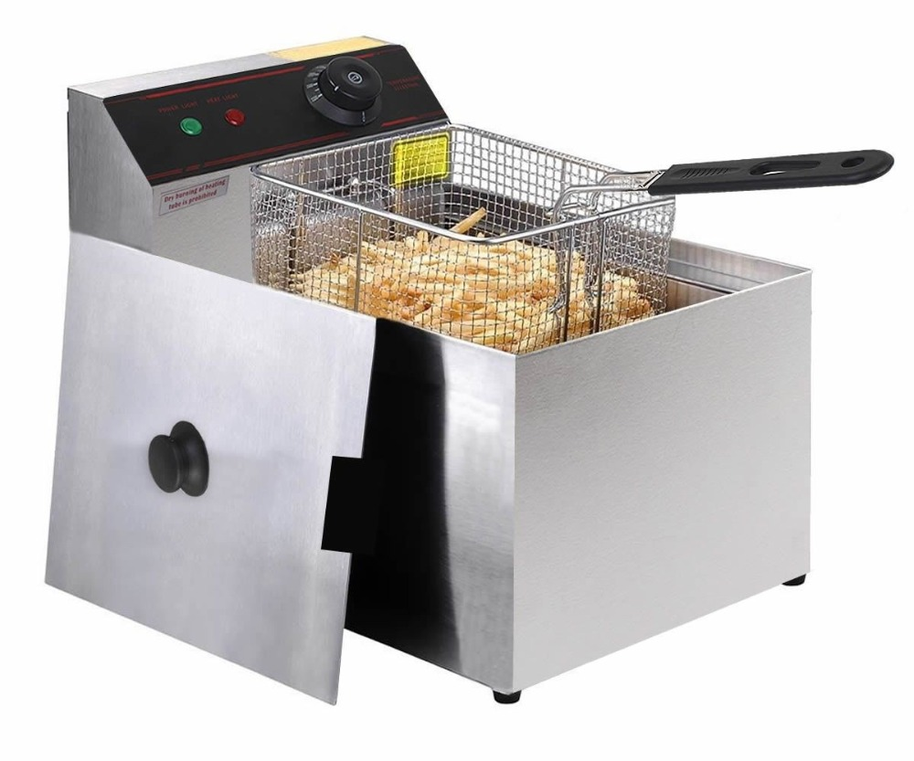 цена 2500W Deep Fryer Electric Commercial Tabletop Restaurant Frying w/ Basket Scoop restaurant equipment kitchen equipment pressure
