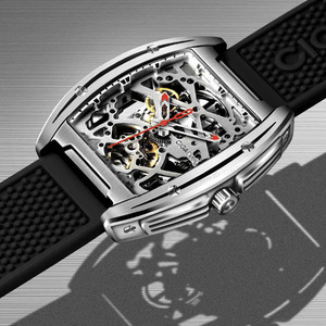 Image 5 - Youpin ciga z シリーズ中空アウト機械式腕時計腕時計シリカゲルファッション高級自動革リストバンドギフト