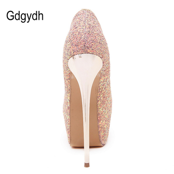 a53c23a396aecb Buy now Brand 22CM Extreme High Heel Gold Metal Heel Platform Sexy Fetish  Stiletto Zip Party