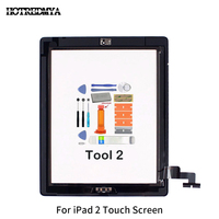 replacement home button Touch Screen Digitizer For Apple iPad2 3 4 5 Air Front Glass Display Touch Panel Replacement With Home Button Flex+Repair Tools (2)