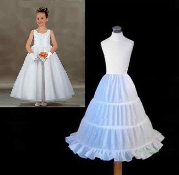 มาใหม่กระโปรงสาวT Ulleแต่งงานบอลชุดสีดำสีขาวภายใต้กระโปรงC Rinolineยาวกระโปรงกระโปรงเด็กอุปกรณ์เสริม