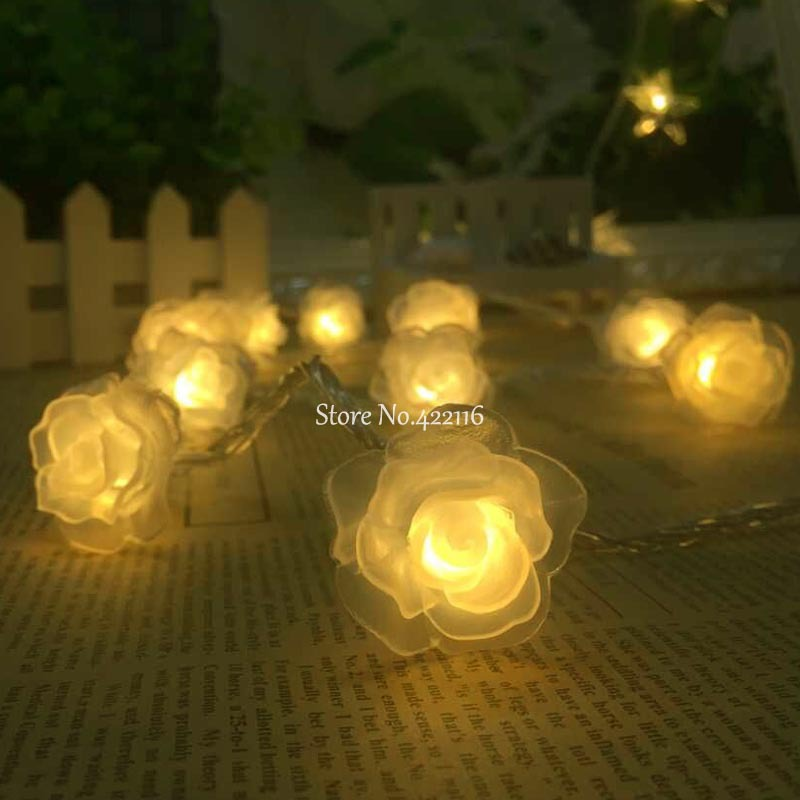 3m 30 led christmas lights outdoor fairy string lights battery 3m 30 led christmas lights outdoor fairy string lights battery operated rose style luminaria party wedding new year decorations in led string from lights aloadofball Image collections