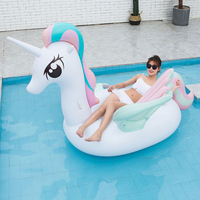 240*240CM Inflatable Colorful wing unicorn Swimming Pool Float Tube Raft Giant Float Ride On Swimming Ring Summer Party Pool Toy