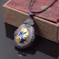 Handmade Braided Wooden Cloisonne Necklace New Jewelry Fish Animal Shell Beach Vintage Necklace