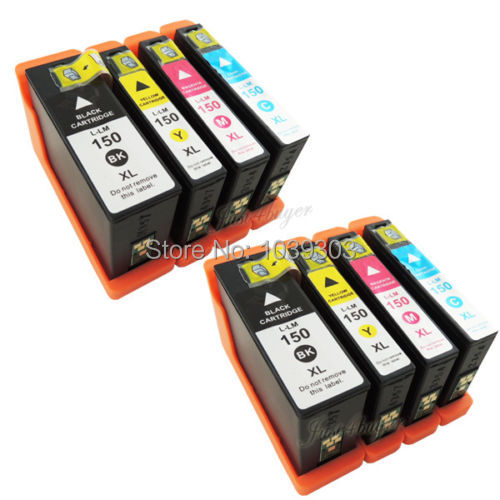 8 x High Yield Ink Cartridge For Compatible Lexmark 150XL 150 S315 S415 S715 Printer 1pk color ink cartridge for lexmark 18c0190 for lexmark x2480 x3480 printer
