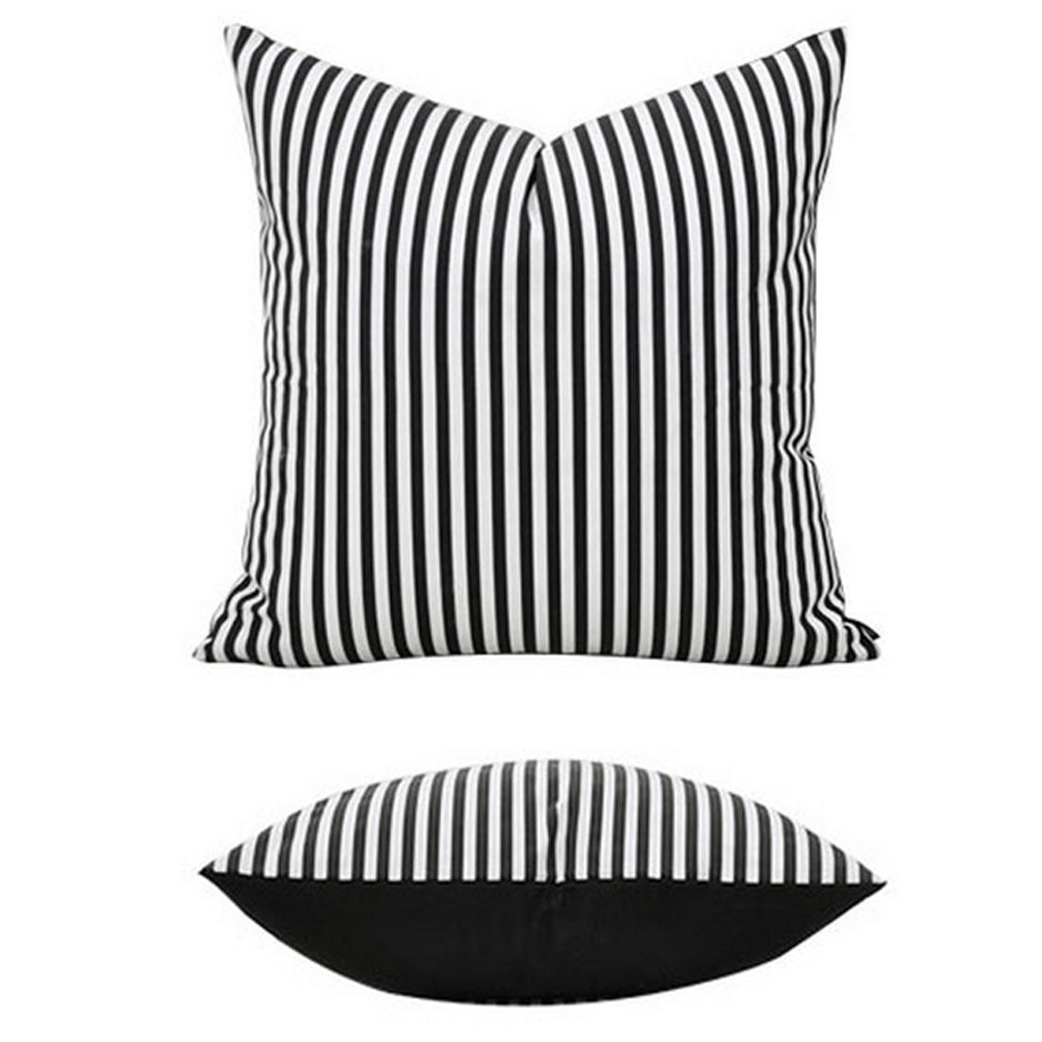 Brief Simple Style Black White Stripe 100 Cotton Home Decor Throw Pillow Cases Sofa Cushions Covers Pillowcase 18 In Cushion Cover From Garden On