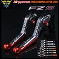 Laser Logo(FZ8) Red+Titanium New CNC Folding Extendable Motorcycle Brake Clutch Levers For Yamaha FZ8 2011 2012 2013 2014 2015