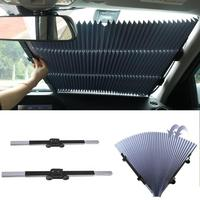 Double Suction Cup Sun Shade Folding Front Rear Shade Visor Retractable   Auto