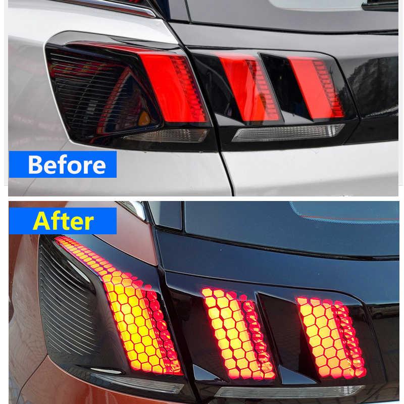Для peugeot 3008 3008 GT 3008GT 2016 2017 2018 2019 Автомобильный задний светильник, сотовый защитный стикер, аксессуары, 1 комплект