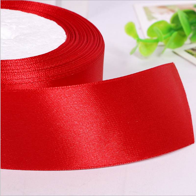 FENGRISE Satin Ribbon 25 mm Silk Sewing Accessories Fabric DIY Supplies Apparel Tape Rap Polyester Trim Roll Material Decoration