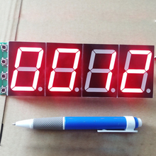 цены 1.8 inch large screen digital tube module / four-bit single-chip development and design digital display circuit board