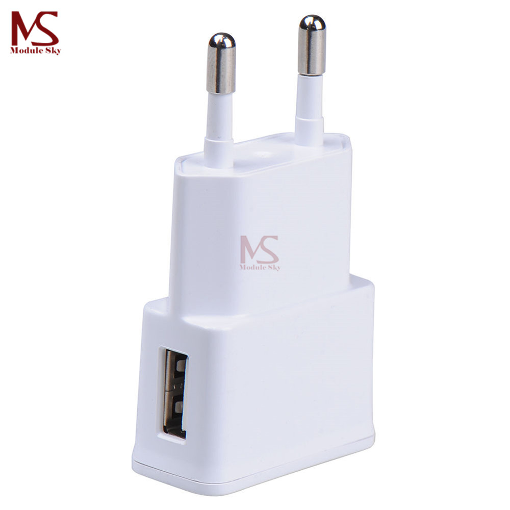 5V 2A USB Charger Head European EU Plug Adapter Power Adapter Adaptor White 1-port Wall Charger Quick Charge Travel Household