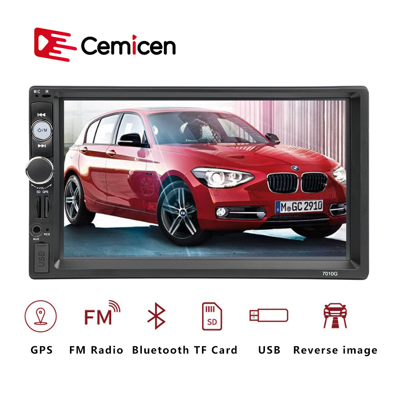 2 Din <font><b>Autoradio</b></font> Car Radio Multimedia Player GPS Navigation Camera Bluetooth MP4 MP5 Stereo Audio Auto Electronic Steering-wheel image