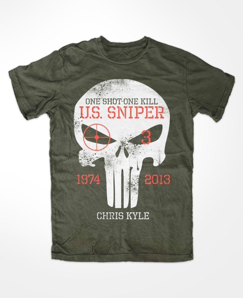 Chris Kyle T-Shirt Oliv The Devil Of Ramadi American Sniper Scharfschutze Cpo Newest 2019 Fashion O-Neck Brand Men'S Tee Shirt