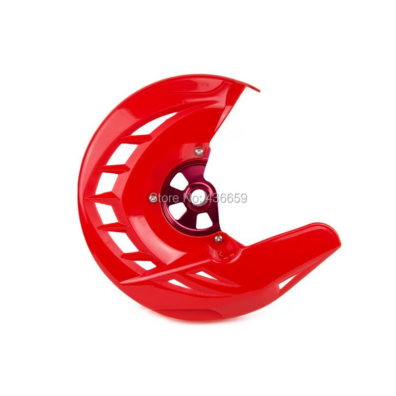 ФОТО Motorcycle  Red Front Brake Disc Rotor Cover Guard For Honda CRF250R 250X CRF450R CRF450X 2004-2015