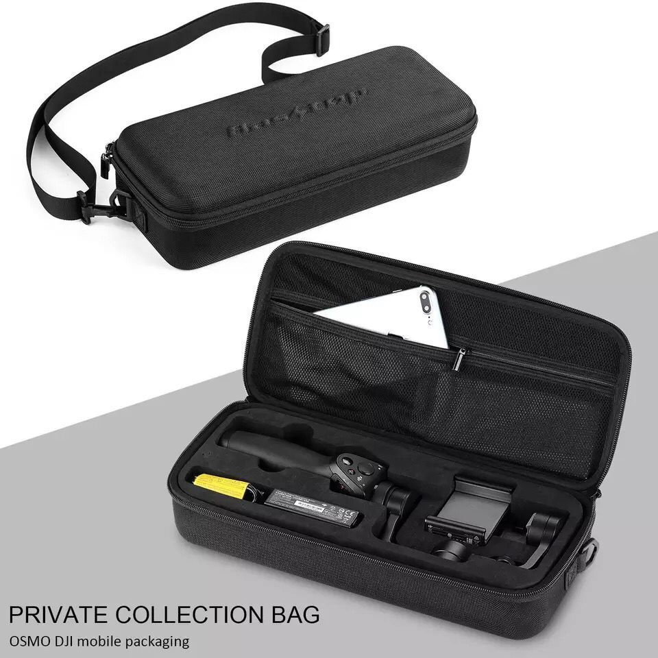 OSMO Mobile Portable Carrying Case Handheld Gimbal EVA Storage Bag Battery Cable Handbag Waterproof Shockproof Package