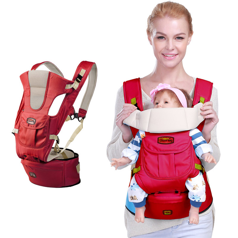 Backpacks Carriers Baby Carrier Infant Toddler Sling Bag Gearw Hipseat Wrap Newborn Cover Coat Babies Cotton Infant Baby