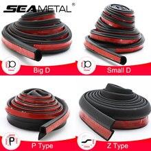 D/P/Z 4 Types Car Door Seal Strips Waterproof Rubber Strip Sound Insulation Dustproof Auto Sealing Sticker Stripe Car Styling 4M