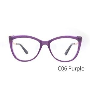 Image 5 - Donne in acetato Occhiali Da Vista Ottico Lente Occhiali Da sole Donne Miopia Occhiali Da Vista Frames Occhiali di Modo di Tendenza Verde #9015