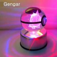 Geng Fantasma Elfos Mesa Candeeiro de mesa de Vidro Go Monstro de Bolso Pokemon Mewtwo 3d Led Banco Do Poder Da Luz da Noite Da Lâmpada 3d