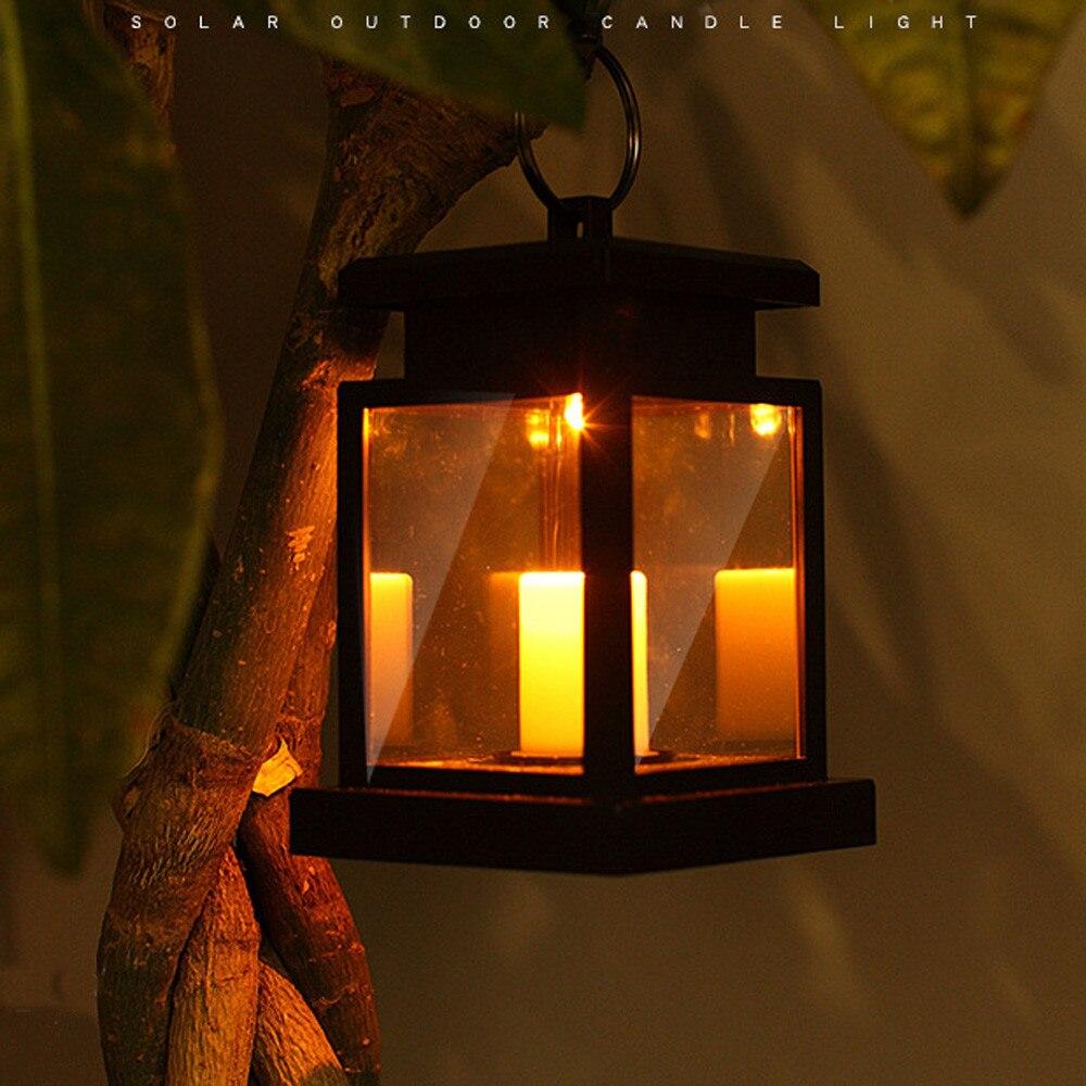 1 Stück Solar Licht Led Kerze Lampe Klassische Solar Powered Kerze Licht Outdoor Zaun Hängen Rauchfreien Laterne Lampe Warm Weiß