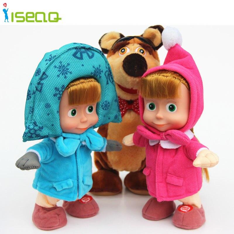 Новое Прибытие России Маша и Медведь Игрушки Плюшевые Куклы Baby Дети Новый Год Подарки для Детей Juguetes Силикона Возрождается Baby Dolls