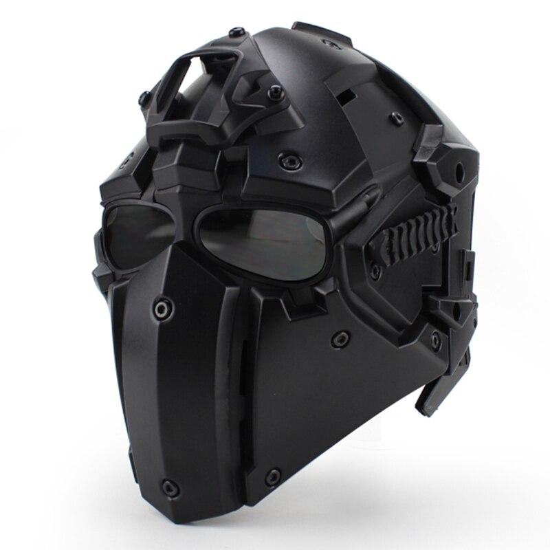 Del motore Completo di Viso Casco di Protezione Ossidiana Casque Per Il Motociclo Tattico Militare di Formazione Ai Polimeri di Ingegneria Dei Materiali