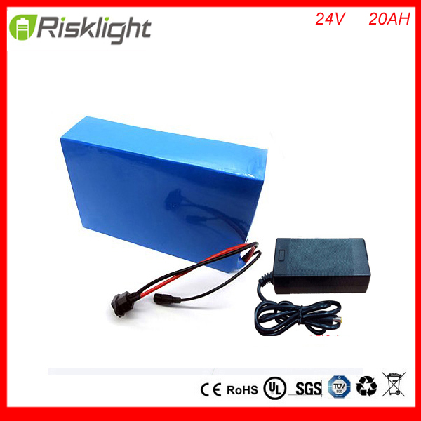 Deep Cycle 24V 20Ah e Bike Battery 24V 300W Lithium ion Battery Pack for 8Fun BBSO1 O2 HD motors with 29.4V 2A Charger free customs taxes 24v 20ah e bike battery li ion 24v battery pack for e bike 24v 20ah lithium battery with charger