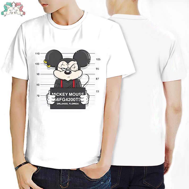 Футболки с принтом Микки Мауса, футболки для мужчин и женщин, топы в стиле хип-хоп, повседневные Забавные футболки с короткими рукавами для влюбленных