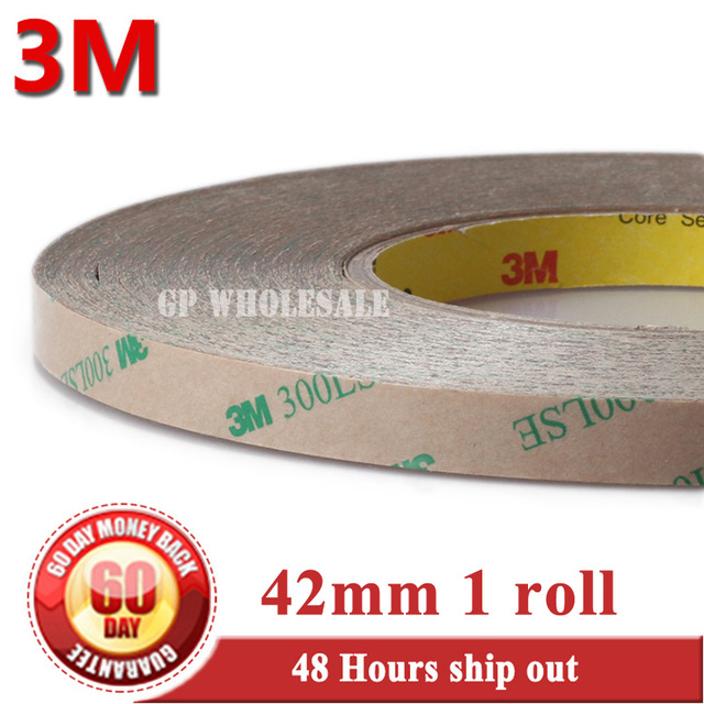 1x 42mm*55M 3M 9495LE 300LSE 2 Sides Strong Sticky Tape PET for Cellphone Tablet Frame Touch LCD Screen Lens Bond