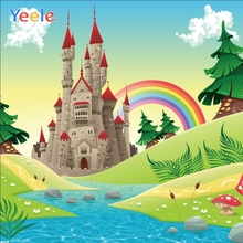 Yeele Photocall Castle River Rainbow Room Painting Photography Backdrops Personalized Photographic Backgrounds For Photo Studio
