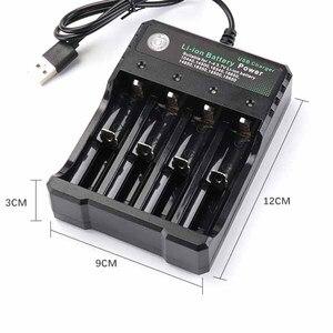 Image 2 - 18650 del Caricatore 4 slot per batteria Li Ion USB di ricarica indipendente portatile sigaretta elettronica 18350 16340 14500 battery charger