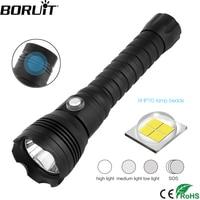 BORUiT A28 XHP70.2 LED Scuba Diving Flashlight Underwater 100M Torch Max 10000lumens 4 Mode Dive Lantern Dive by 26650 Battery