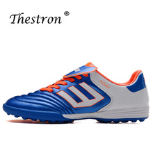 Turf Football Child Shoes Blue Red Outdoor Male Football Shoes Comfortable Soccer Sport Shoes Mens Wearable Soccer Trainers Men soccer shoes children boy girl new hot sale rubber soccer outdoor sport athletics breathable comfortable children shoes