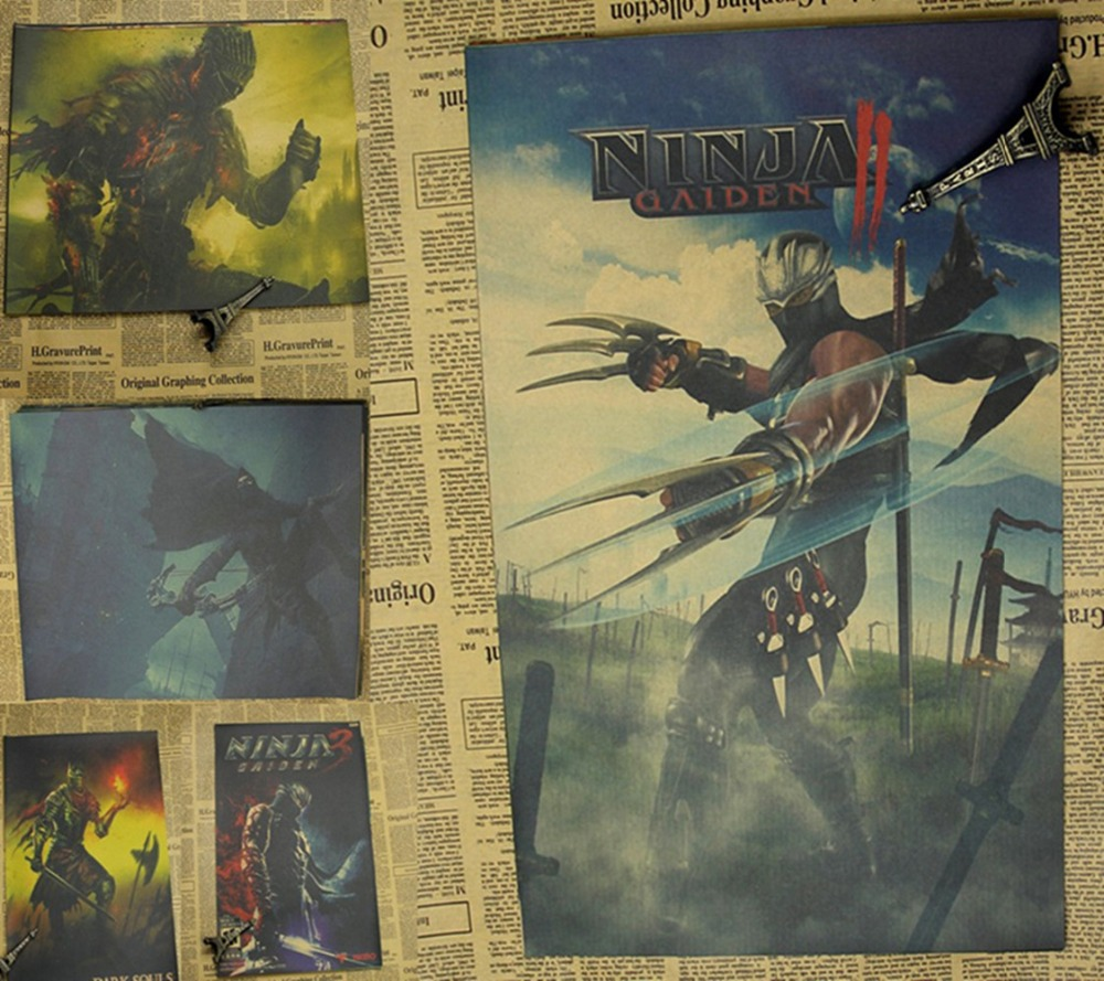 Action games around retor poster notorious / Dark Soul / Guild Wars / Ninja Dragon Sword / Shen Duo The poster wall stickers
