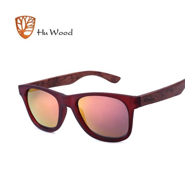 9e5c8c3a70 HU WOOD Bamboo Sunglasses Polarized For Unisex Rectangle Plastic Frame  Fashion Sun Glasses Women Driving Fishing
